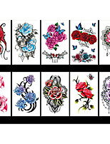 cheap -LITBest 6 Sheets Randomly Temporary Tattoos Flower Temporary Tattoos for Women Teens Girls, Tiny Temporary Tattoo Adult Waterproof Body Art Sticker TBS8190-TBS8198