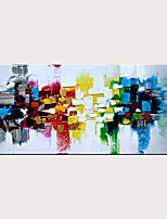 cheap -Handmade Colorful Textured Abstract Wall Art Modern Oil Painting Artwork