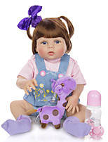 cheap -KEIUMI 22 inch Reborn Doll Baby & Toddler Toy Reborn Toddler Doll Baby Girl Gift Cute Washable Lovely Parent-Child Interaction Full Body Silicone 23D29-C80-T08 with Clothes and Accessories for Girls