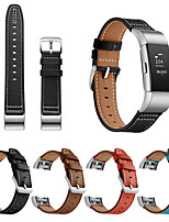 cheap -Replacement Strap for Fitbit Charge 2 Genuine Leather Modern Buckle Watchband