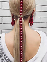 cheap -Women's Hair Jewelry For Wedding Gift Holiday Street Fashion Classic Imitation Pearl Burgundy 1pc