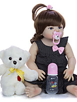 cheap -KEIUMI 22 inch Reborn Doll Baby & Toddler Toy Reborn Toddler Doll Baby Girl Gift Cute Washable Lovely Parent-Child Interaction Full Body Silicone 23D09-C90-H01-T19 with Clothes and Accessories for