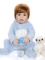 cheap -KEIUMI 22 inch Reborn Doll Baby & Toddler Toy Reborn Toddler Doll Baby Girl Gift Cute Washable Lovely Parent-Child Interaction Full Body Silicone 23D64-C207-T19 with Clothes and Accessories for