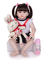 cheap -KEIUMI 22 inch Reborn Doll Baby & Toddler Toy Reborn Toddler Doll Baby Girl Gift Cute Washable Lovely Parent-Child Interaction Full Body Silicone 23D125-C74-H28-S24-T23 with Clothes and Accessories