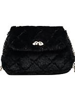 cheap -Women's Chain Velvet Crossbody Bag Fur Bag Solid Color Dark Brown / White / Black