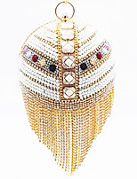cheap -Women's Pearls Synthetic Top Handle Bag 2020 Color Block Gold