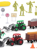 cheap -Vehicle Playset Construction Truck Toys Launch Cars Mini Farmer Cart Simulation Drop-resistant Plastic Mini Car Vehicles Toys for Party Favor or Kids Birthday Gift Catapult 11 18 pcs / Kid's