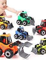 cheap -Vehicle Playset Building Toy Excavator Toy Mini Cartoon Compactor Dozer Drill DIY Disassembly Plastic Mini Car Vehicles Toys for Party Favor or Kids Birthday Gift 6 pcs / Kid's