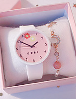 cheap -Kids Quartz Watches Quartz Modern Style Stylish Casual Chronograph Black / White / Blue Analog - White+Pink White Black