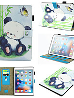 cheap -Case For Samsung Galaxy Samsung TAB A 10.1 T580N / T585C 360° Rotation / Shockproof / Magnetic Full Body Cases Animal / Panda PU Leather / TPU