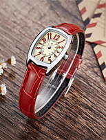 cheap -DM Women's Quartz Watches Quartz Modern Style Stylish Casual Water Resistant / Waterproof Genuine Leather Red Analog - Red / Stainless Steel / Noctilucent