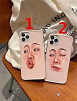 cheap -Case For Apple scene graph iPhone 11 11 Pro 11 Pro Max Photo frame private model series funny couple expression pattern TPU material IMD process fine matte mobile phone case