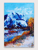 cheap -IARTS®Hand Painted Snow Mountain Oil Painting   with Stretched Frame For Home Decoration