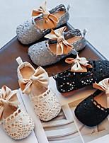 cheap -Girls' Flats Comfort Lace Little Kids(4-7ys) Black / Beige / Gray Summer