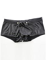 cheap -Men's Cut Out Boxers Underwear - Normal Low Waist Black S M L