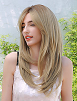 cheap -Synthetic Wig Ombre Natural Wave Natural Straight Middle Part Side Part Wig Long Ombre Brown Synthetic Hair 24 inch Women's Cosplay Fashion Ombre Hair Brown Ombre BLONDE UNICORN