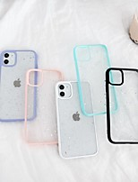 cheap -Apple Case For iPhone7 8 7plus 8plus  XR XS XSMAX  X SE 11 11Pro 11ProMax Translucent Back Cover Glitter Shine TPU Silica Gel