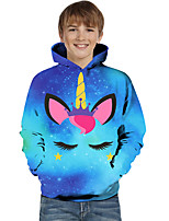 cheap -Kids Toddler Boys' Active Basic Fantastic Beasts Geometric Color Block Print Long Sleeve Hoodie & Sweatshirt Blue