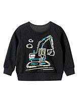 cheap -Kids Boys' Basic Geometric Print Long Sleeve Hoodie & Sweatshirt Black