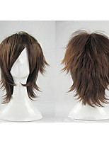 cheap -Synthetic Wig Cosplay Wig Vampire Vampire Knight Curly Layered Haircut Wig Short Brown Grey Black Mint Green Synthetic Hair 12 inch Men's Cosplay Brown hairjoy