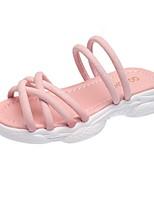 cheap -Girls' Sandals Comfort PU Little Kids(4-7ys) White / Black / Pink Summer