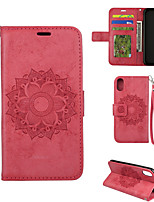 cheap -Case For APPLE  iPhone 5 5s 6 7 8 6plus 7plus 8plus X  Card Holder Flip Magnetic Full Body Cases Glitter Shine PU Leather