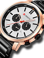 cheap -CURREN Men's Sport Watch Steel Band Watches Quartz Formal Style Modern Style Classic Water Resistant / Waterproof Stainless Steel Black / Blue / Silver Analog - Black+Gloden White+Silver Black One