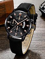cheap -Men's Sport Watch Quartz Modern Style Stylish Classic Calendar / date / day PU Leather Black / Brown / Pool Analog - Black Blue Blushing Pink / Chronograph / Large Dial