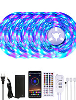 cheap -MASHANG 20M LED Strip Lights RGB LED Light Strip Music Sync 1200LEDs LED Strip 2835 SMD Color Changing LED Strip Light Bluetooth Controller and 40 Key Remote LED Lights for Bedroom Home Party
