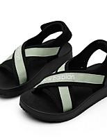 cheap -Girls' Sandals Comfort Polyester Little Kids(4-7ys) Black / Pink / Green Summer