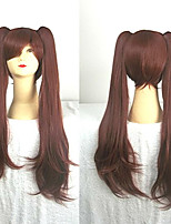 cheap -Synthetic Wig Cosplay Wig Izumi Sagiri Another Straight Cosplay With 2 Ponytails Wig Long Auburn Pink Blue Black Synthetic Hair 28 inch Women's Cosplay Black Brown hairjoy