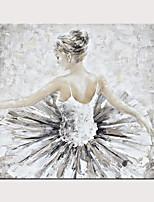 Недорогие -ручная роспись холст абстрактная живопись маслом балет девушка современное абстрактное искусство дома декоративные стены искусства