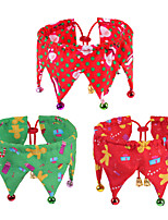 cheap -Dog Cat Bandanas & Hats Dog Bandana Dog Bibs Scarf Cartoon Party Cute Christmas Party Dog Clothes Adjustable Costume Polyster M