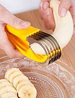 cheap -Banana Cutter Fruit Vegetable Sausage Slicer Stainless Steel Salad Sundaes Tools Cooking Dessert Kitchen Accessories Gadgets
