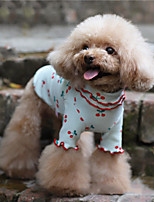 cheap -Dog Costume Shirt / T-Shirt Pajamas Fruit Casual / Sporty Cute Party Casual / Daily Dog Clothes Warm White Blue Pink Costume Cotton XXXS XXS XS S M L