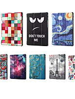 cheap -Case For Huawei MatePad matepad T8 Shockproof Flip Full Body Cases Geometric Pattern  Eiffel Tower PU Leather  TPU flower painting word stars sky