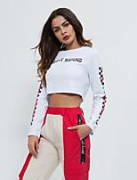 cheap -Women's Crop Top Long Sleeve Crop Top Sport Athleisure T Shirt Soft Comfortable Everyday Use Daily Street