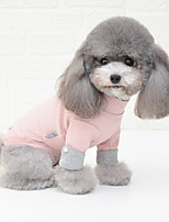 cheap -Dog Shirt / T-Shirt Pajamas Color Block Casual / Sporty Cute Wedding Party Casual / Daily Winter Dog Clothes Breathable White Pink Gray Costume Cotton S M L XL XXL