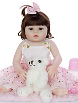 cheap -KEIUMI 19 inch Reborn Doll Baby & Toddler Toy Reborn Toddler Doll Baby Girl Gift Cute Washable Lovely Parent-Child Interaction Full Body Silicone 19D13-C366-T19 with Clothes and Accessories for