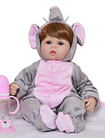 cheap -KEIUMI 16 inch Reborn Doll Baby & Toddler Toy Reborn Toddler Doll Baby Boy Gift Cute Lovely Parent-Child Interaction Tipped and Sealed Nails Half Silicone and Cloth Body with Clothes and Accessories