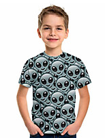 cheap -Kids Boys' Sports & Outdoors Basic Holiday 3D Short Sleeve Tee Light gray