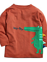 cheap -Kids Boys' Basic Animal Long Sleeve Tee Brown