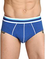 cheap -Men's Basic Briefs Underwear - Normal Mid Waist Blue Red Green M L XL
