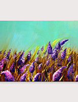 cheap -IARTS®Hand Painted Purple flowers Oil Painting   with Stretched Frame For Home Decoration