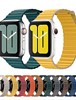 cheap -Genuine leather loop strap For apple watch band 44mm 40mm Replacement iWatch series 5 4 3 2 1 watchbands bracelet 42mm 38mm Wristbands