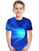 cheap -Kids Boys' Active Basic Rainbow Print Short Sleeve Tee Blue