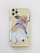 cheap -Case For Apple iPhone 11 / iPhone 11 Pro / iPhone 11 Pro Max Frosted / Pattern Back Cover Dog / Animal TPU