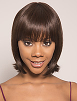 cheap -Remy Human Hair Wig Short Silky Straight Pixie Cut Brown Easy to Carry Women New Arrival Capless Brazilian Hair Burmese Hair Women's Medium Brown#4 12 inch