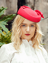 cheap -Headwear Elegant Polyester Hats with Bowknot 1pc Special Occasion / Party / Evening Headpiece