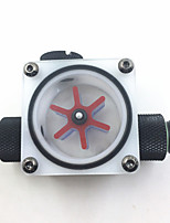 cheap -Water cooling Flow Meter Indicator Light-emitting Computer PC Liquid Water Cooling System CPU White POM with plug connector